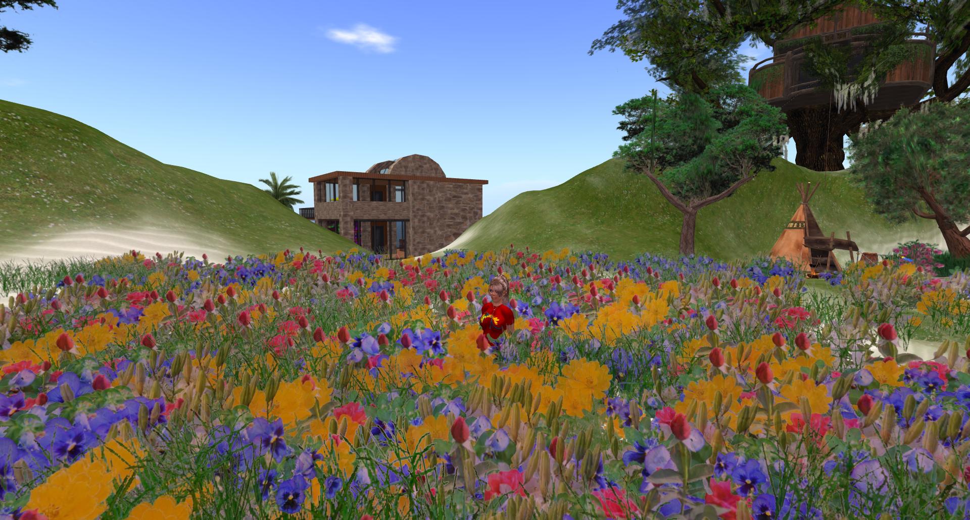 Jewles spring flower planting jewle rae flower garden particles emitter 042410002 mightylinksfo Images